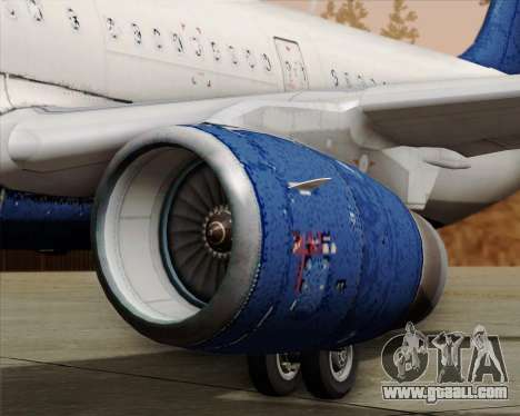 Airbus A321-200 Delta Air Lines for GTA San Andreas bottom view