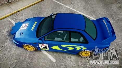 Subaru Impreza WRC 1998 Rally v2.0 Green for GTA 4 right view