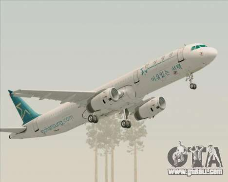 Airbus A321-200 Hansung Airlines for GTA San Andreas