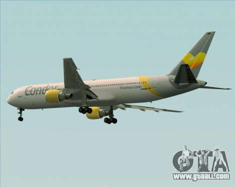 Boeing 767-330ER Condor for GTA San Andreas back view