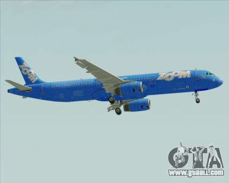Airbus A321-200 Zoom Airlines for GTA San Andreas side view