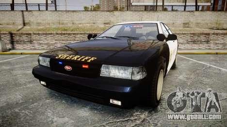 GTA V Vapid Cruiser LSS Black [ELS] Slicktop for GTA 4