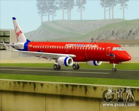 Embraer E-190 Virgin Blue for GTA San Andreas right view