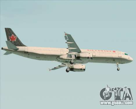Airbus A321-200 Air Canada for GTA San Andreas back left view