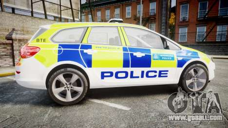 Vauxhall Astra Estate Metropolitan Police [ELS] for GTA 4 left view