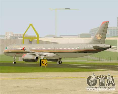 Airbus A321-200 Royal Jordanian Airlines for GTA San Andreas side view