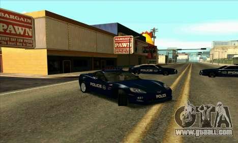 FCPD Chevrolet Corvette Z06 for GTA San Andreas
