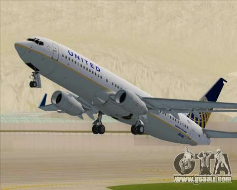 Boeing 737-824 United Airlines for GTA San Andreas