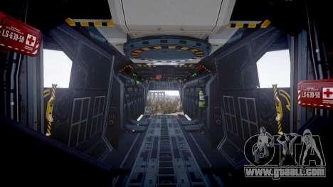 VTOL Warship PJ3 for GTA 4 back view