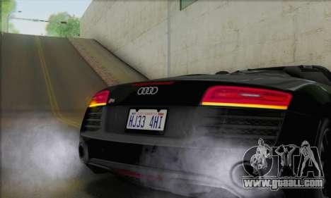 Audi R8 V10 Spyder 2014 for GTA San Andreas inner view