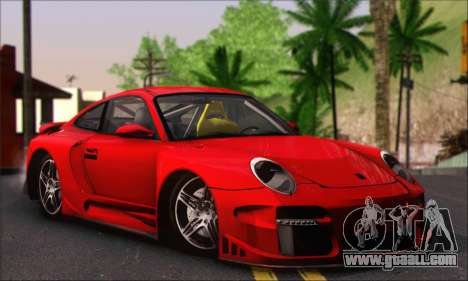 Porsche 997 Turbo Tunable for GTA San Andreas inner view