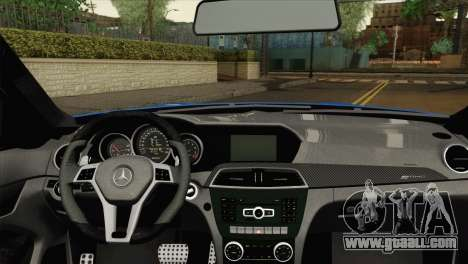 Mercedes-Benz C63 AMG Sedan 2012 for GTA San Andreas back left view