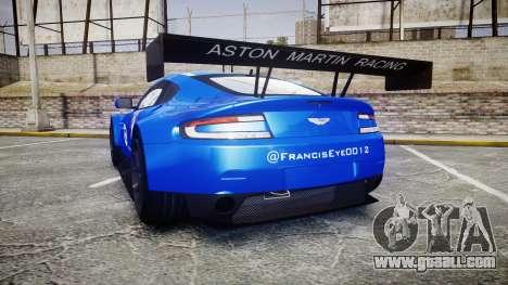 Aston Martin Vantage GTE Nico Yazawa for GTA 4 back left view