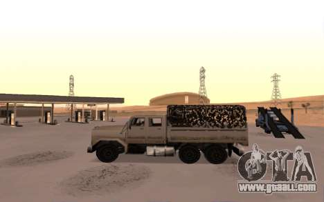 Barracks with four doors for GTA San Andreas left view