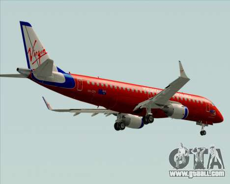 Embraer E-190 Virgin Blue for GTA San Andreas upper view