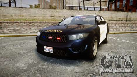 GTA V Vapid Interceptor LSS Black [ELS] Slicktop for GTA 4