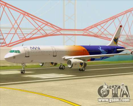 Airbus A321-200 Myanmar Airways International for GTA San Andreas left view