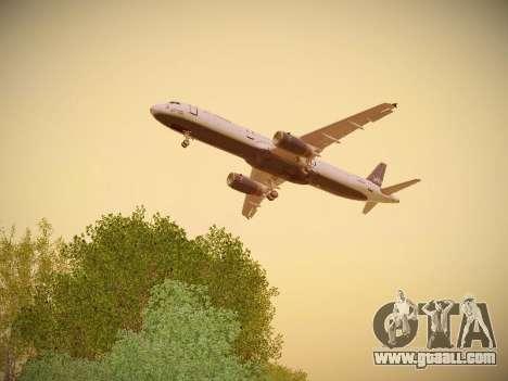 Airbus A321-232 jetBlue Woo-Hoo jetBlue for GTA San Andreas interior