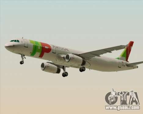 Airbus A321-200 TAP Portugal for GTA San Andreas left view