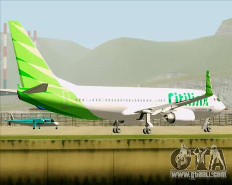 Boeing 737-800 Citilink for GTA San Andreas side view