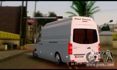 Mercedes-Benz Sprinter Panelvan for GTA San Andreas left view