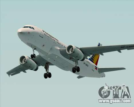 Airbus A319-112 Philippine Airlines for GTA San Andreas interior