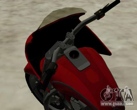 Bagger for GTA San Andreas inner view