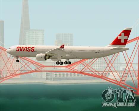 Airbus A330-300X Swiss International Air Lines for GTA San Andreas wheels