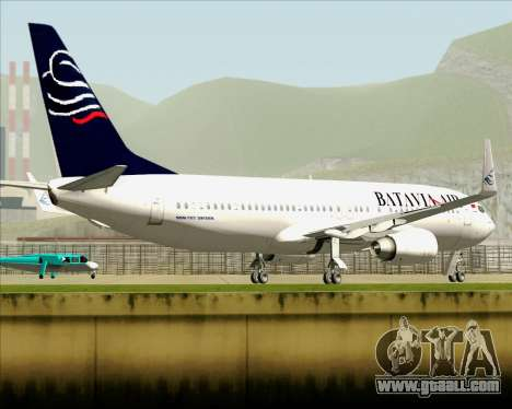 Boeing 737-800 Batavia Air for GTA San Andreas upper view