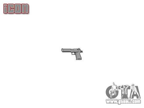 Gun IMI Desert Eagle Mk XIX Black for GTA 4 third screenshot