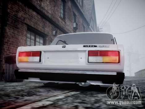 VAZ 2107 for GTA 4 back view