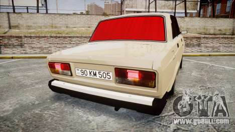 VAZ-2107 Azerbaijani style for GTA 4 back left view