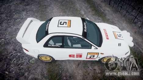 Subaru Impreza WRC 1998 SA Competio v3.0 for GTA 4 right view