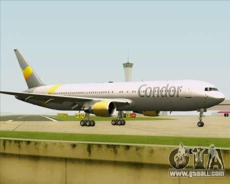 Boeing 767-330ER Condor for GTA San Andreas inner view