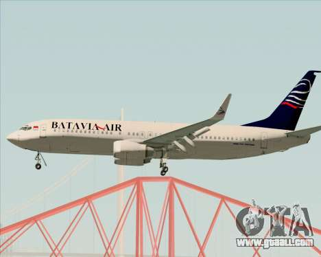 Boeing 737-800 Batavia Air for GTA San Andreas right view