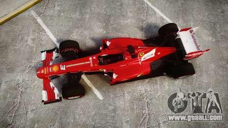 Ferrari F138 v2.0 [RIV] Alonso TSSD for GTA 4 right view