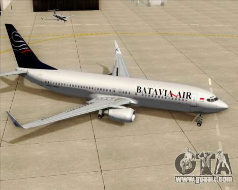 Boeing 737-800 Batavia Air for GTA San Andreas wheels