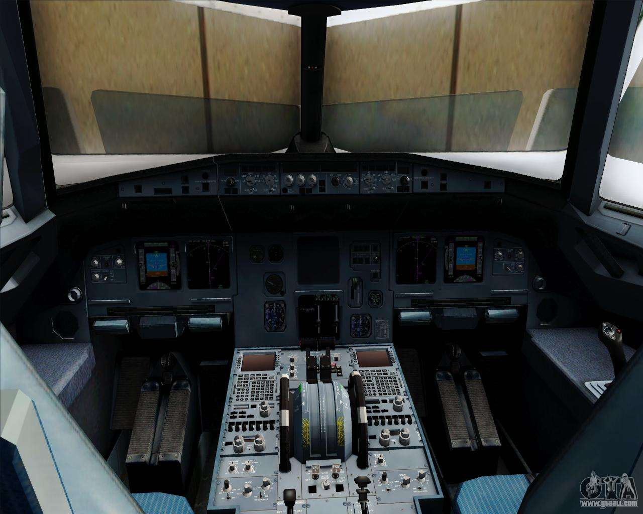 Airbus a320 232 united airlines for gta san andreas for Gta sa plane interior mod
