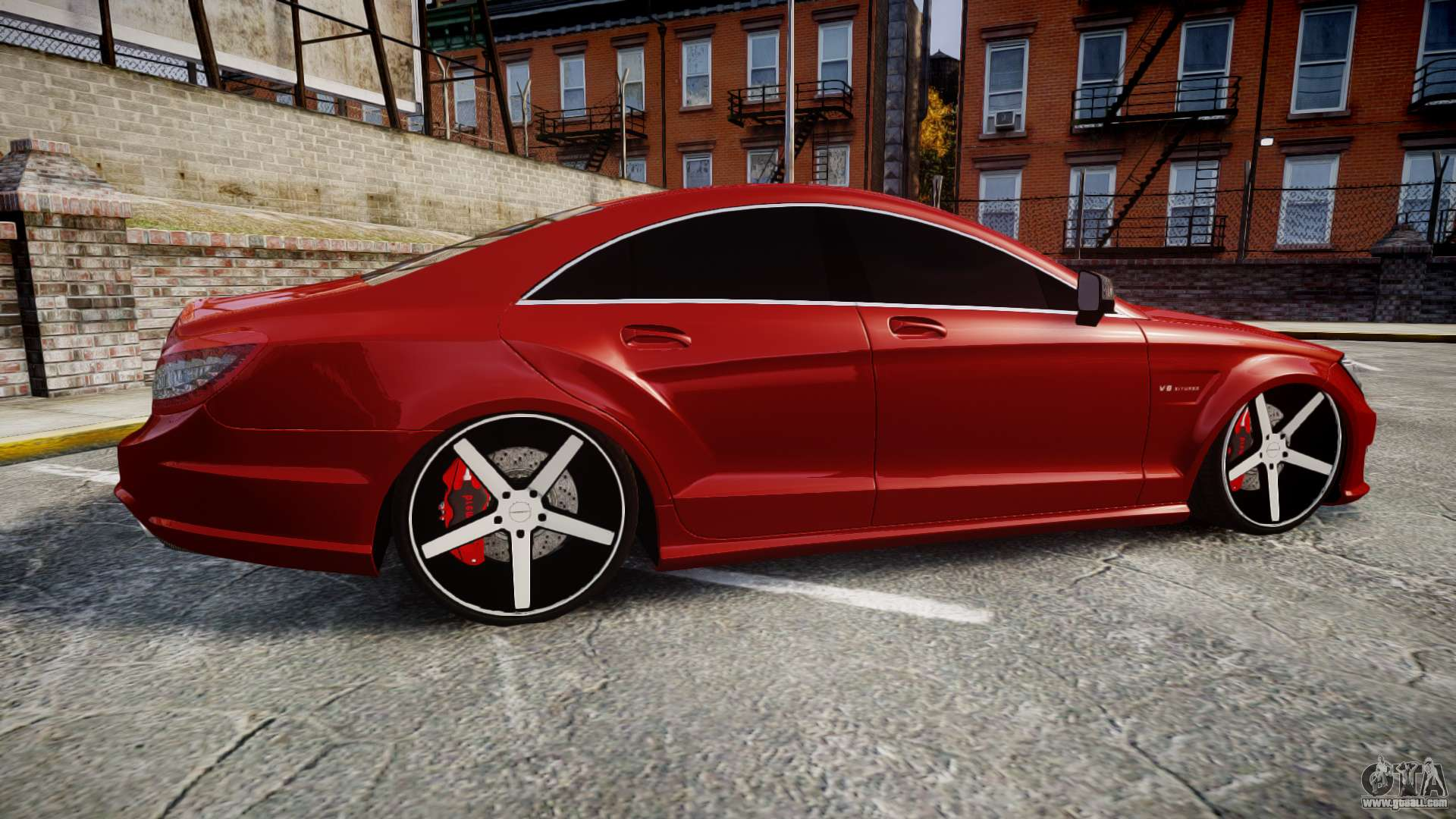 mercedes benz cls 63 amg vossen for gta 4. Black Bedroom Furniture Sets. Home Design Ideas