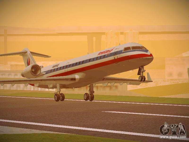 Bombardier CRJ-700 American Eagle for GTA San Andreas
