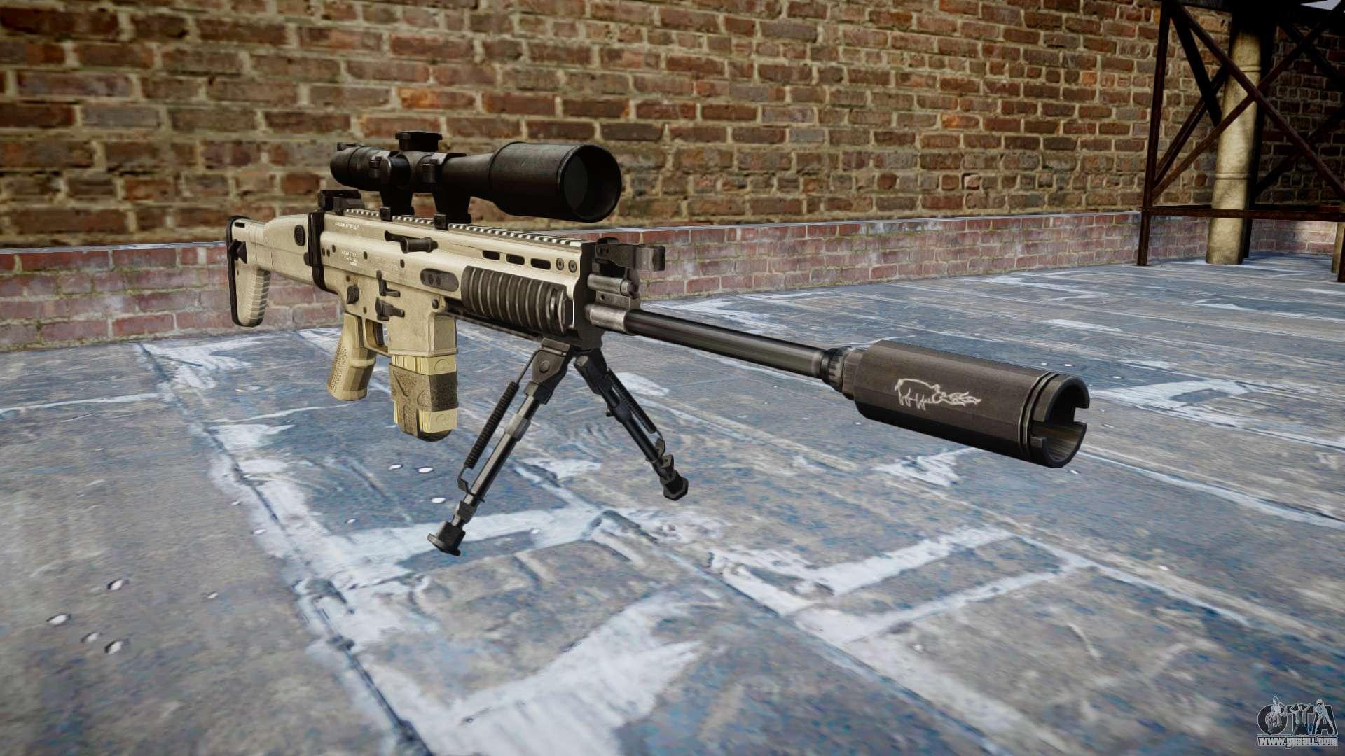 Rifle Mk 17 SCAR-H bipod for GTA 4