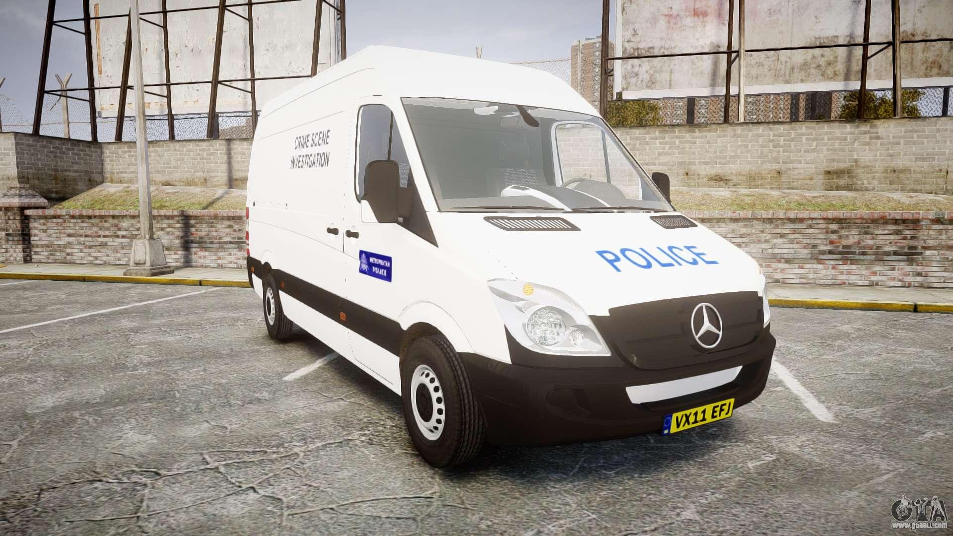 Mercedes benz sprinter 311 cdi london police for gta 4 for London mercedes benz