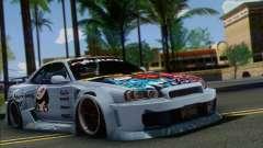 Nissan Skyline R-34 SDK Style for GTA San Andreas