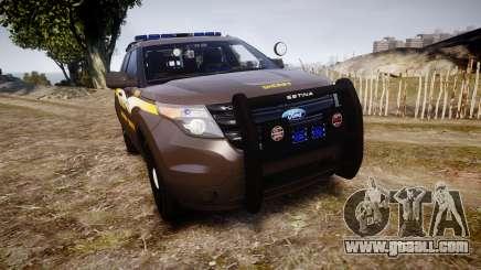 Ford Explorer 2013 Sheriff [ELS] Virginia for GTA 4