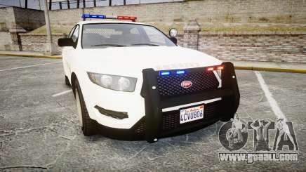 GTA V Vapid Interceptor LSS White [ELS] for GTA 4