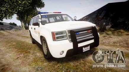 GTA V Declasse Granger LSS White [ELS] for GTA 4