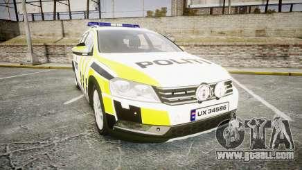 Volkswagen Passat 2014 Marked Norwegian Police for GTA 4