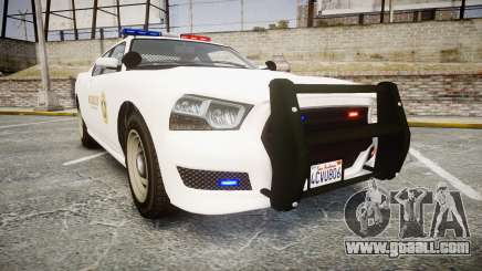 GTA V Bravado Buffalo LS Sheriff White [ELS] for GTA 4
