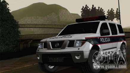 Nissan Pathfinder Policija for GTA San Andreas