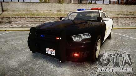 GTA V Bravado Buffalo LS Sheriff Black [ELS] for GTA 4